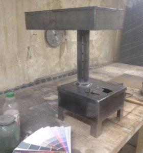 Печь работает на отработанном масле