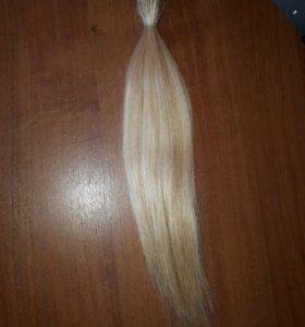 Волосы натуральные, славянка. 40 см, 100 капсул