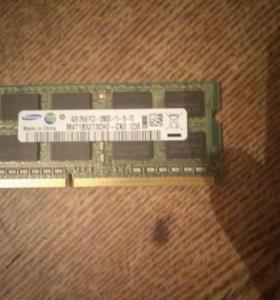Оперативка для ноутбука ddr3 4gb