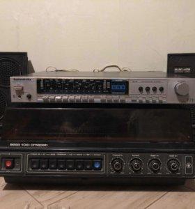 Вега 108 стерео, усилитель Radiotechnika, колонки