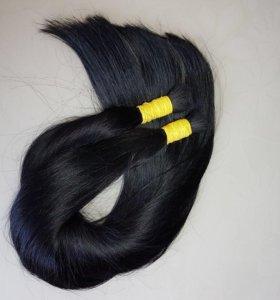 Чёрные волосы в срезе