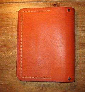 Тетрадь на кольцах с кожаной обложкой (оранжевая)