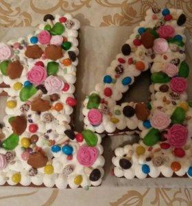 Торт цифры