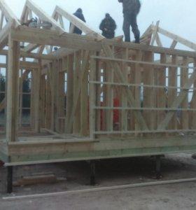 Строительство домов, баней, ландшафтный дизайн