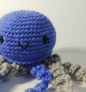 Медуза голубая 0328