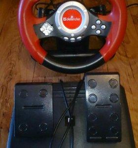 Игровой руль для ПК  Defender Challenge Mini LE