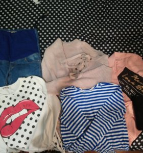 Вещи для беременной модной девушке