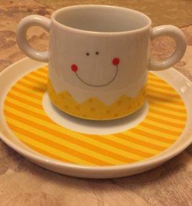 Чашка и блюдце Haba