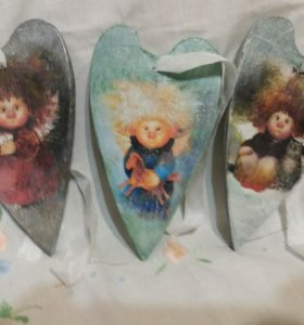 Сердечки ангелы валентинка подарок любимому