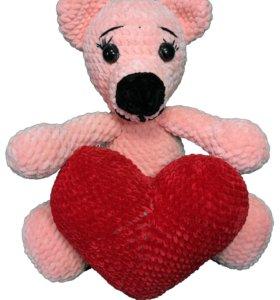 Игрушка плюшевый мишка с сердцем в руках, 36 см