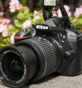 Зеркальный Фотоаппарат Nikon D3400 + AF-P 18-55 VR
