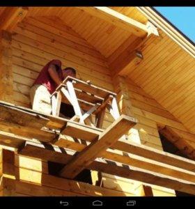 Строительство дома коттеджи бани гаража