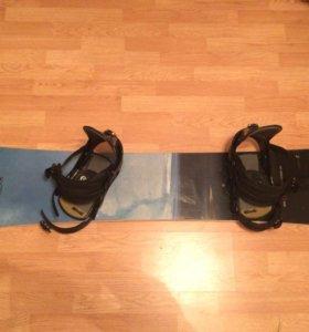 Сноуборд Burton, крепления Burton, ботинки Forum