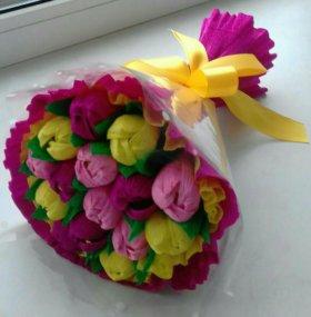 Букет из конфет -тюльпаны на 8 марта!