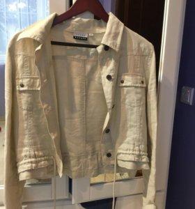 Легкая льняная куртка-рубашка