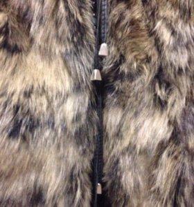 Жилет женский+кожаная куртка