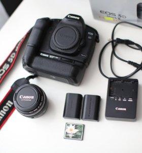 Canon 5D mark ii + 50 mm 1,4 + батарейный блок