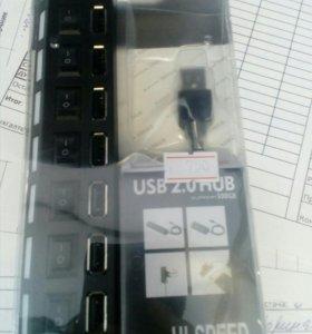 USB. HUB7 портов
