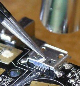 Замена разъема зарядки телефонов и планшетов