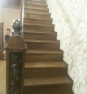 Лестницы кухни из массива