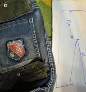 Шорты - бриджи - тонкий джинс.110 -150 см