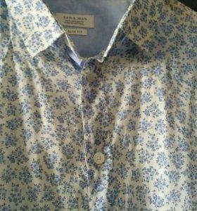Рубашка мужская Zara man XL