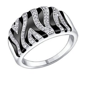 Кольцо серебряное Sokolov