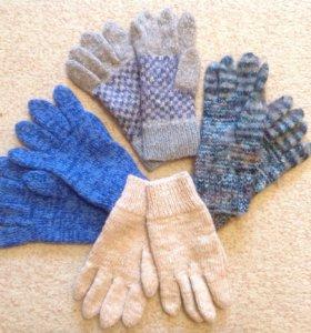 Перчатки (ручная вязка) ,шерсть.