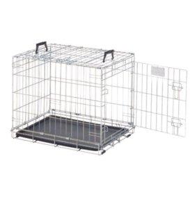 Клетка для собак металлическая, складная. Новая