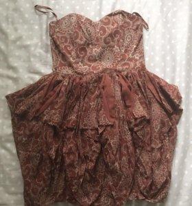Платье бандо мини French Connection 42-44 (S )