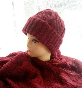 Комплект шапочка + палантин