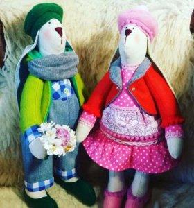 Текстильные зайцы