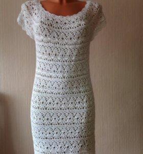 Платье ажурное ручной работы (крючком)