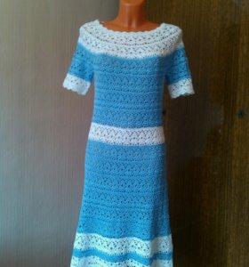 """Ажурное платье """"бело-голубые лилии"""""""