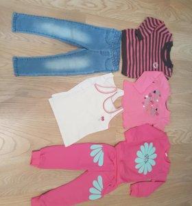 Вещи для девочки пакетом р98