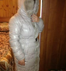 Новая куртка, экокожа (зимняя с мехом) р52