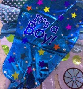 Шарики фольгированные на рождение мальчика