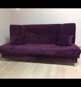 Диван кровать лодочка фиолет флок новые с гарант.