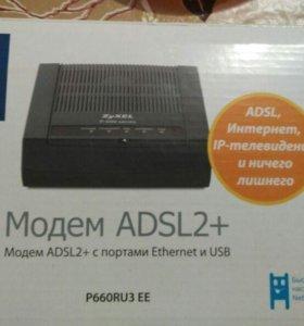 Модем ADSL2+ с портами Ethernet и USB