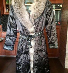Пальто-пуховик зимнее женское