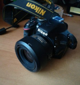 Фотоаппарат Nikon d3200+Nikkor 35 mm 1.8