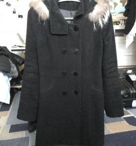 Зимнее пальто чёрное
