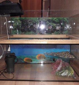 Аквариум для черепах-112 литров.