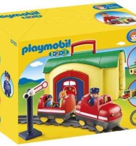 Playmobil игровой набор Моя первая железная дорога