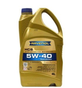 Моторное масло Ravenol 5w-40 HCS 4 литра. Акция!