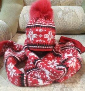 Шапка и шарф из ангоры