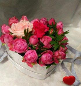 Цветы в коробке (подарочный набор)