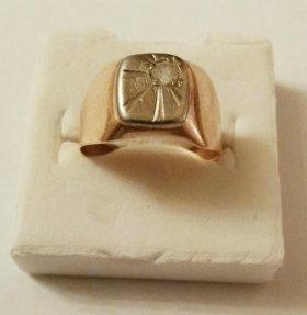 Перстень золотой печатка