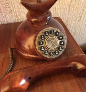Деревянный телефон (винтаж)