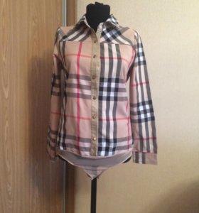 Рубашка-боди в стиле BURBERRY